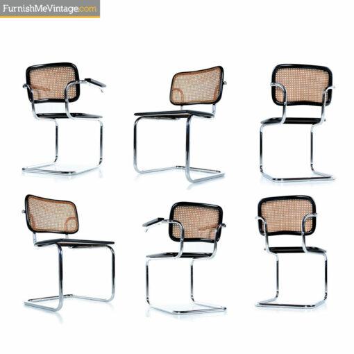 chrome and black Breuer Cesca chairs