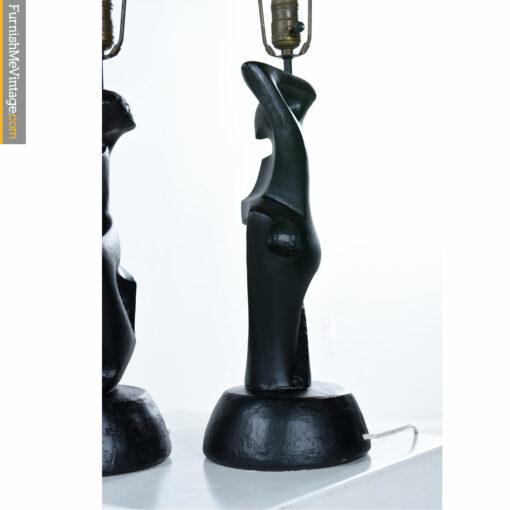 chalkware modern dancers lamp