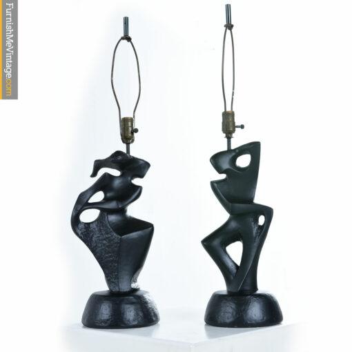 dancers mid century ceramic-lamps