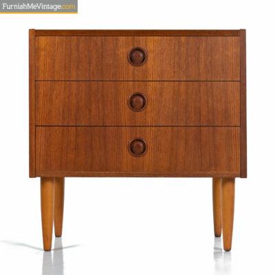 danish teak nightstand end table