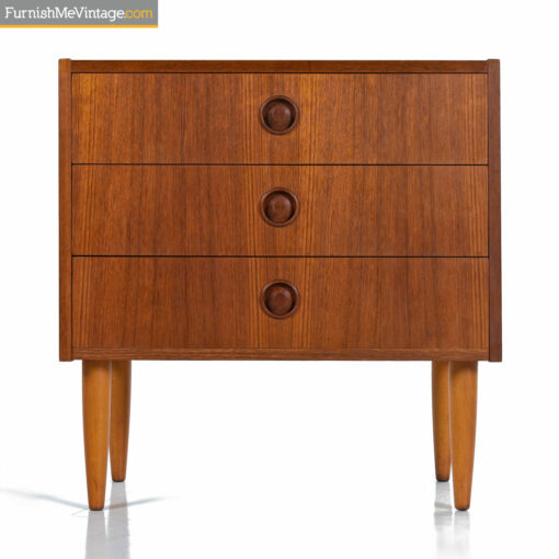 danish teak nightstand end table