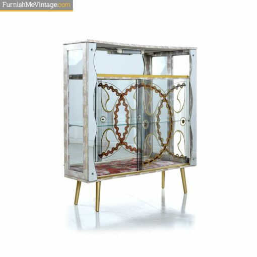 glass eclectic china cabinet