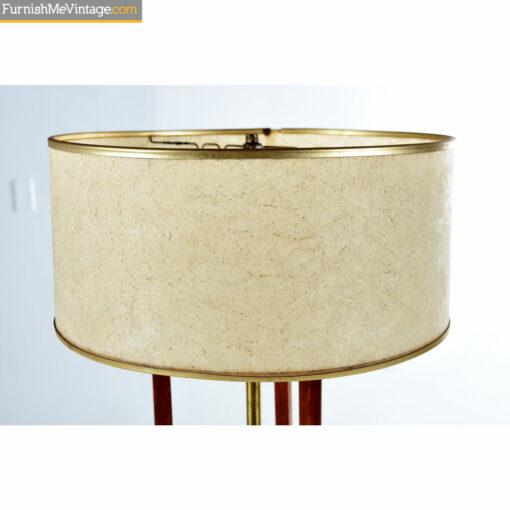 gold fiberglass mid century lamp shade