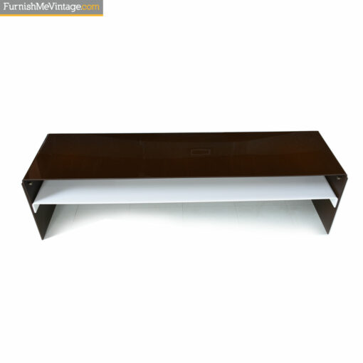 lucite italian modern coffee table