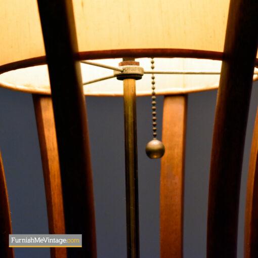 modeline walnut table lamp