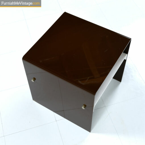 pace collection brown lucite end table