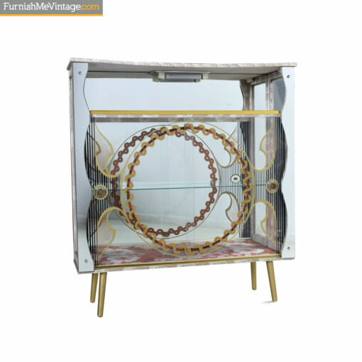 painted vintage curio cabinet
