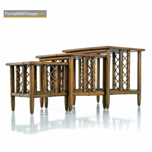rattan nesting tables