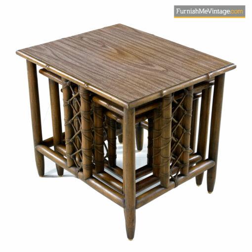 rattan nesting tables bamboo