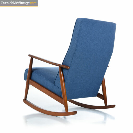 retro blue rocking chair