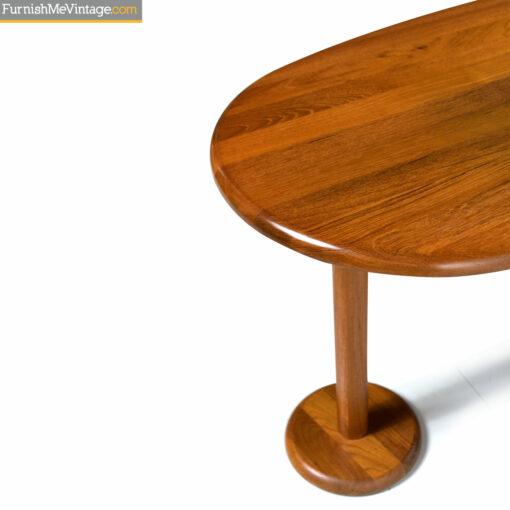 solid teak danish art deco desk