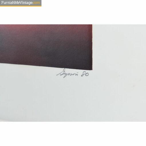 sunset artist pencil signature