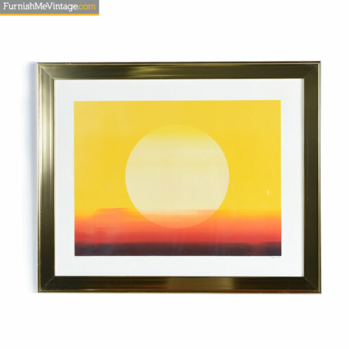 sunset screen print