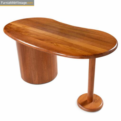 teak danish art deco desk