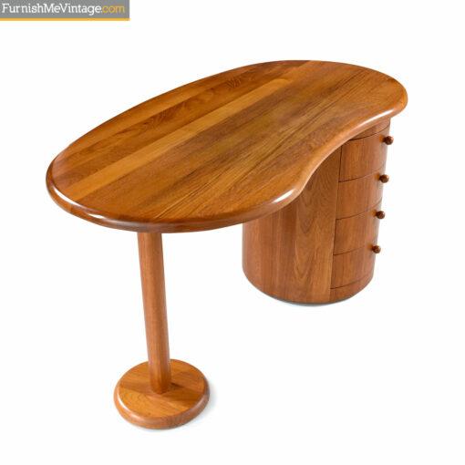 teak danish mobler curved desk