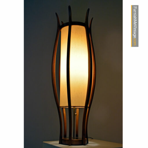 teak modeline table lamp