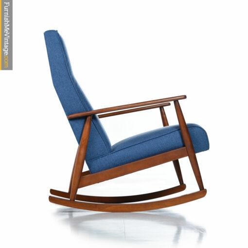 vintage danish blue rocking chair