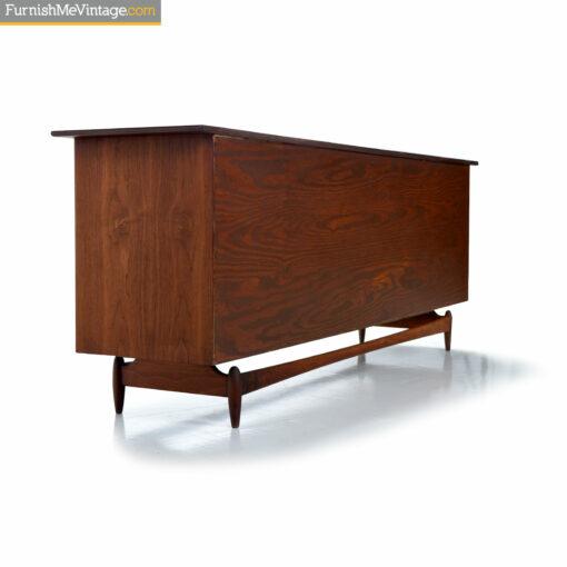 walnut mid century stereo cabinet