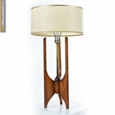 walnut modeline danish lamp
