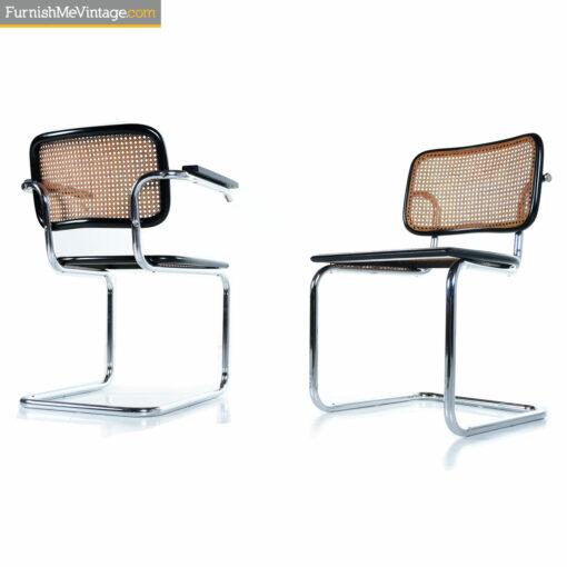 Marcel Breuer chrome Cesca chairs
