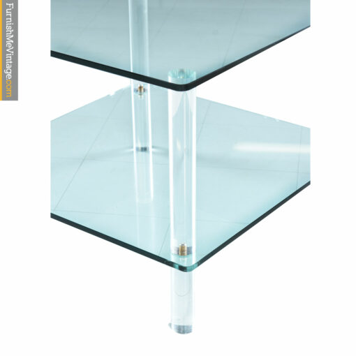 1970s lucite glass side table