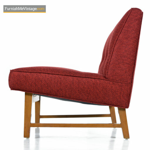 red mid-century modern Edward Wormley chair