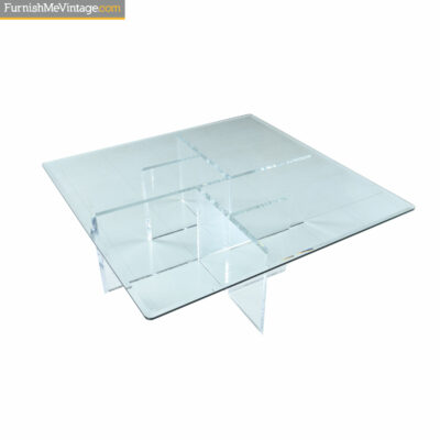 acrylic glass square coffee table