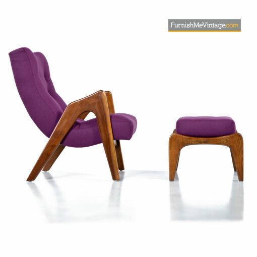 adrian pearsall cricket chair ottoman