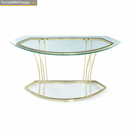 brass gold console table