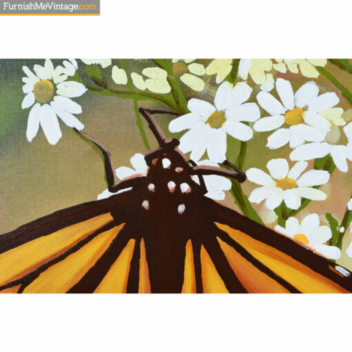 butterfly mid century modern painting