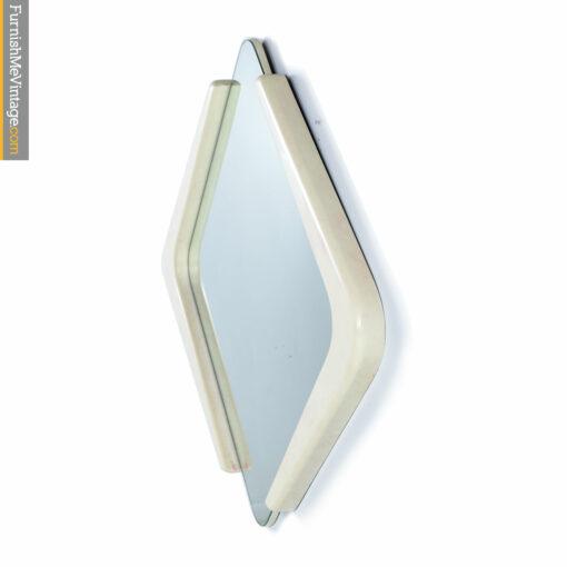 diamond shaped modern mirror