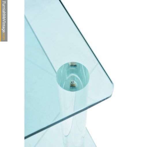 glass lucite side table
