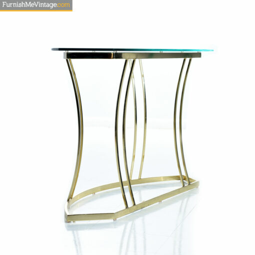 gold console table 1970s