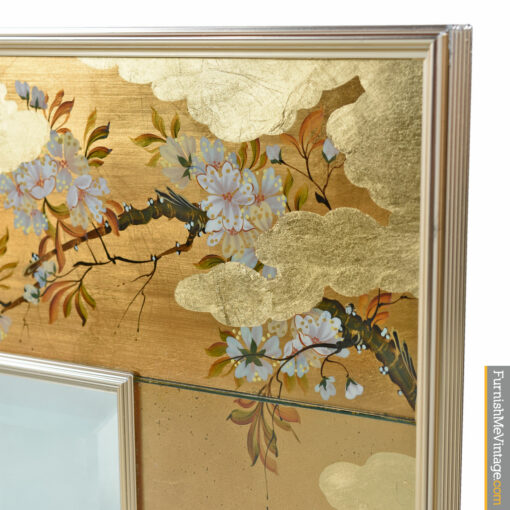 LaBarge gold chinoiserie mirror