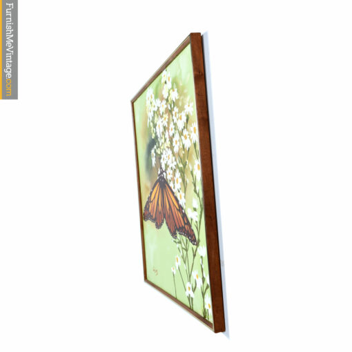 green orange butterfly painting