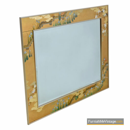 labarge gold leaf brass mirror