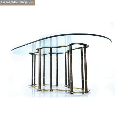 mastercracft racetrack brass glass table