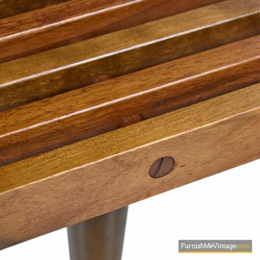 mcm coffee table slat bench