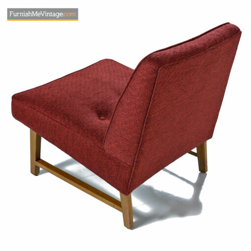 red Knoll fabric Edward Wormley Dunbar chairs