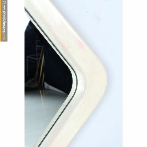 modern lacquer white pink mirror