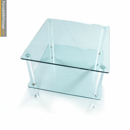 pace tiered glass lucite table