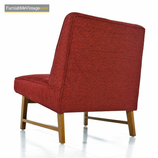red Dunbar Edward Wormley chair
