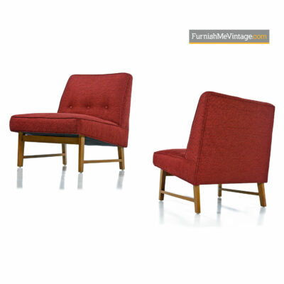 Pair of Edward Wormley for Dunbar chairs