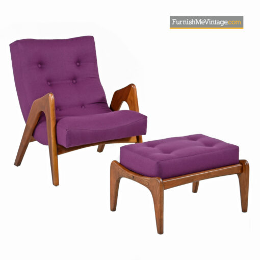 pearsall walnut scoop lounge chairs