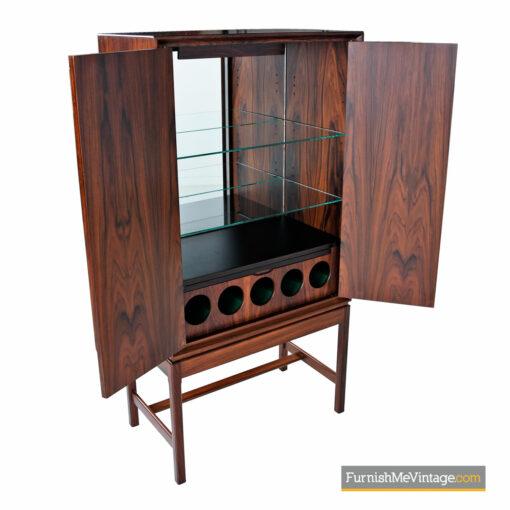 scandinavian modern rosewood liquor cabinet