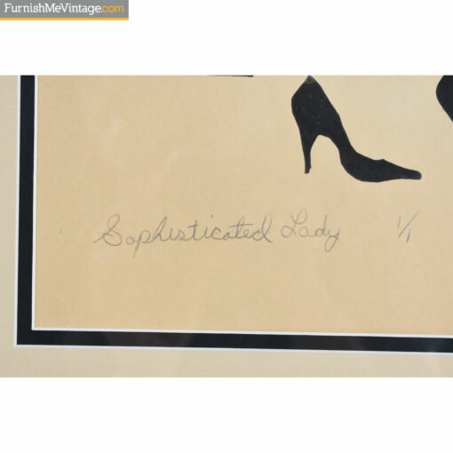 signed sophisticated lady print