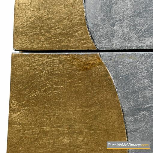silver foil Memphis dresser
