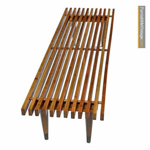 slat bench mid century modern