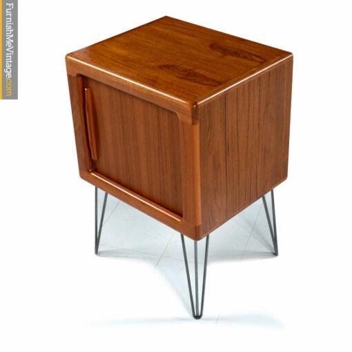 teak danish tambour cabinet