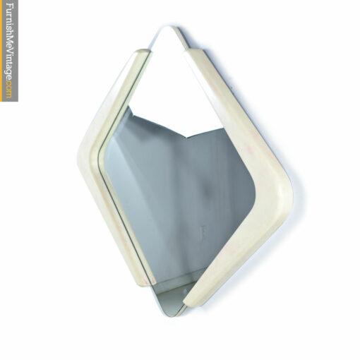 triangular white modern mirror